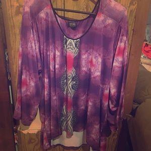 Long Sleeved Purple Top